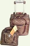 Комплект SUMMIT 2/1 чемодан+сумка коричневые 1027-2Т